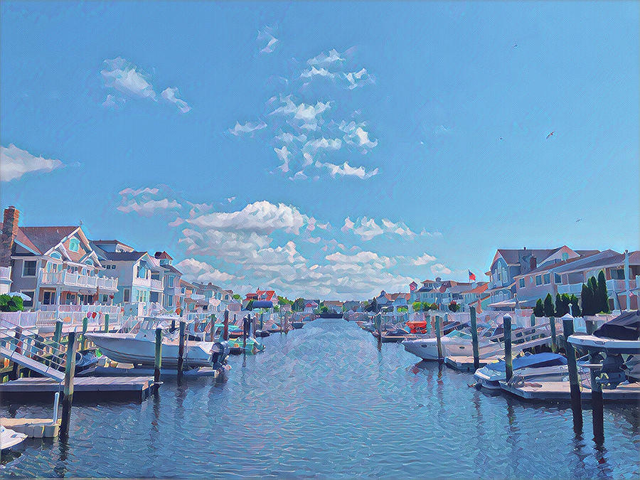 Summer Digital Art - Summer on the Bay by Surreal Jersey Shore