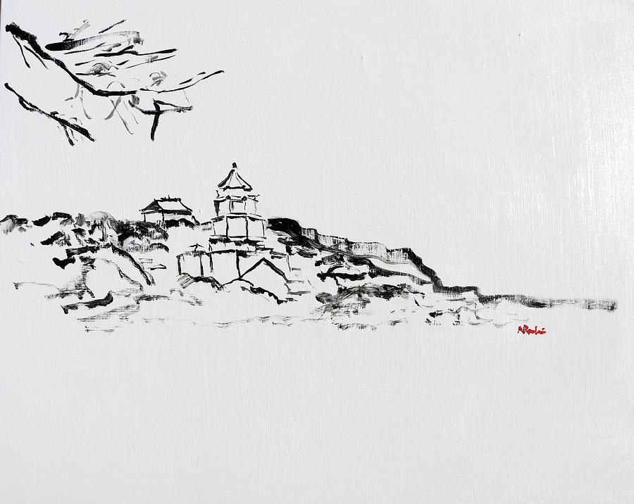 Summer Palace Painting - Summer Palace in the Snow 202026 by Alyse Radenovic
