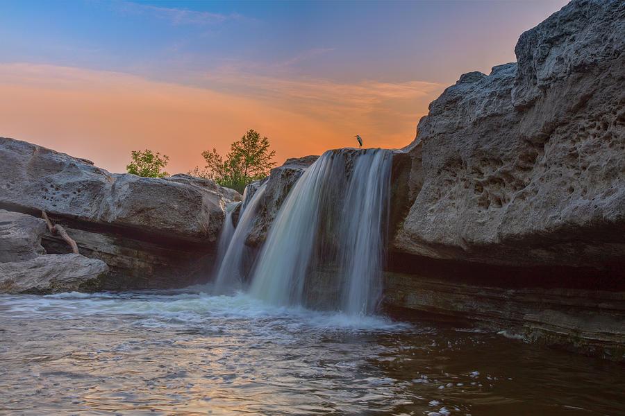 Summer Sunset At Mckinney Falls 11 Photograph