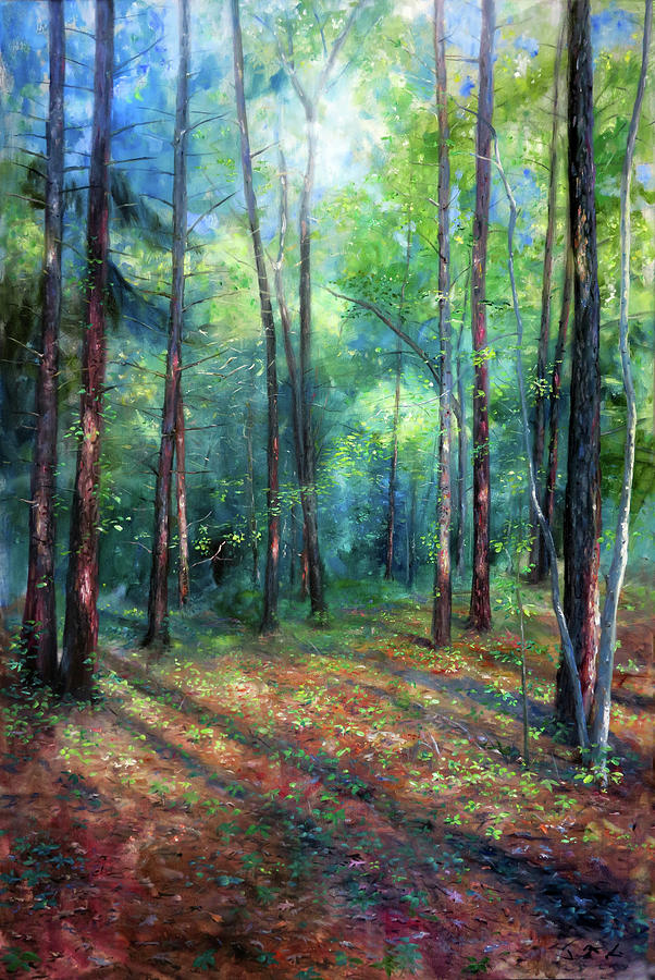 Forest Painting - Summer Woods by Jonathan Gladding