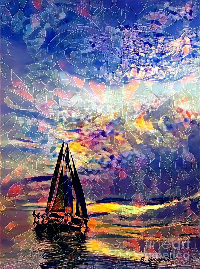 Boat Mixed Media - Summertime by Elizabeth Giupponi