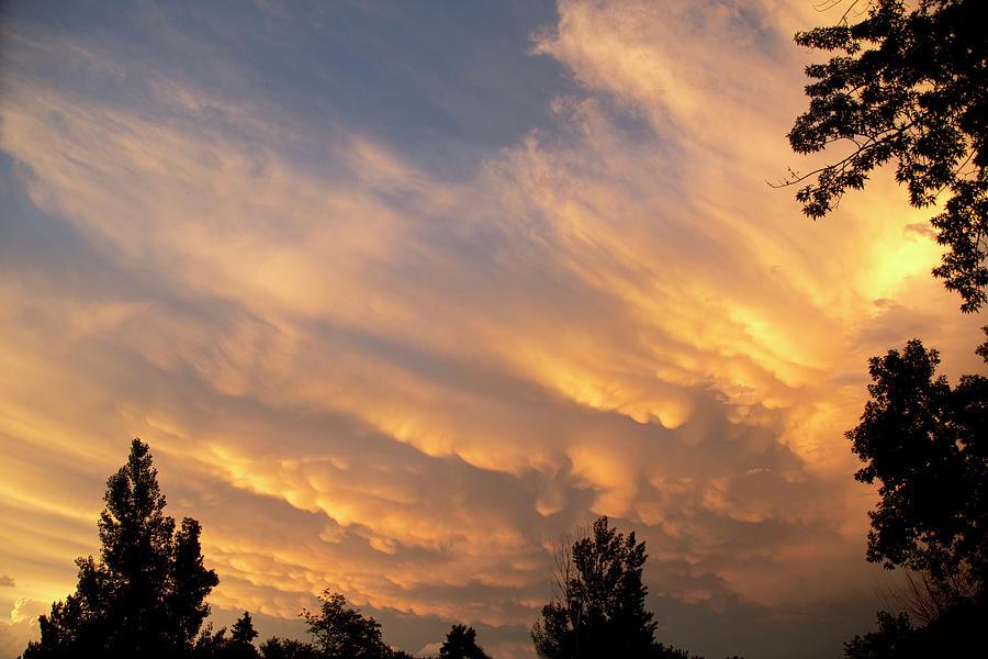 Summertime Mammatus Sunset Storm Passing By Photograph