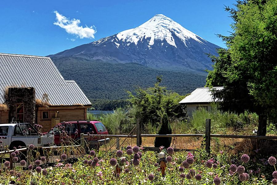Summertime Under Osorno Volcano Photograph