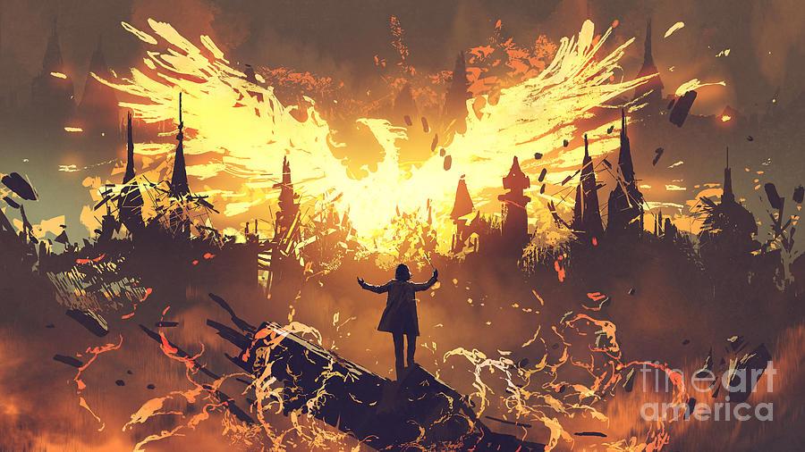Summoning The Phoenix Painting