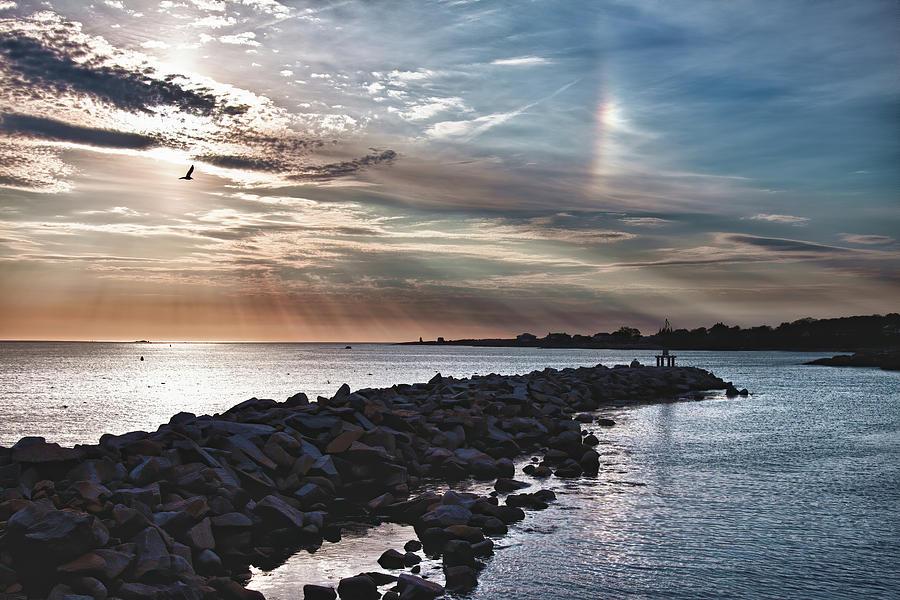 Sun Dog over Rockport by Jeff Folger