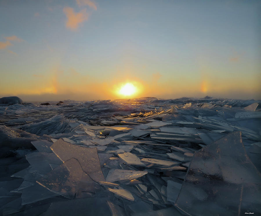 Sun Dogs Photograph - Sun Dog Sunrise by Alison Gimpel