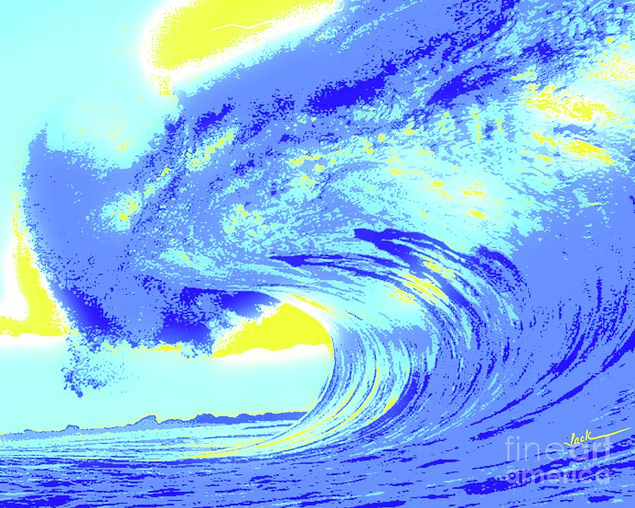 Wave Painting - Sun Kissed Wave by Jack Bunds