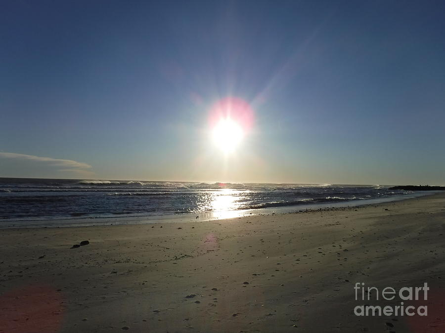 SUN SET OVER LONG BEACH by BARBRA TELFER