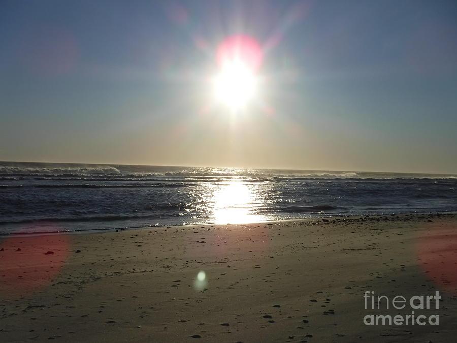 SUN SETTING OVER LONG BEACH LONG ISLAND by BARBRA TELFER