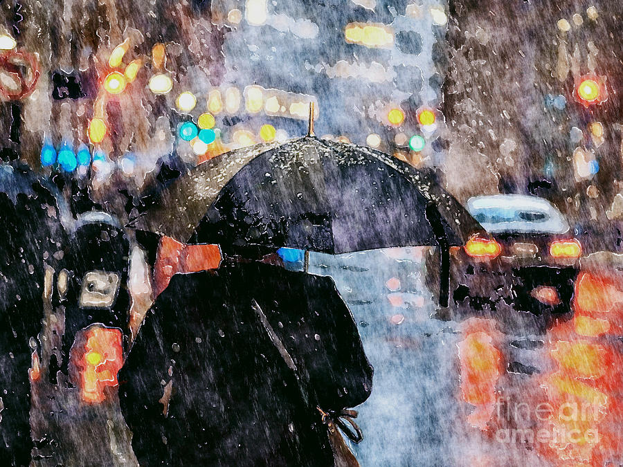 Sun Shower In City by Phil Perkins
