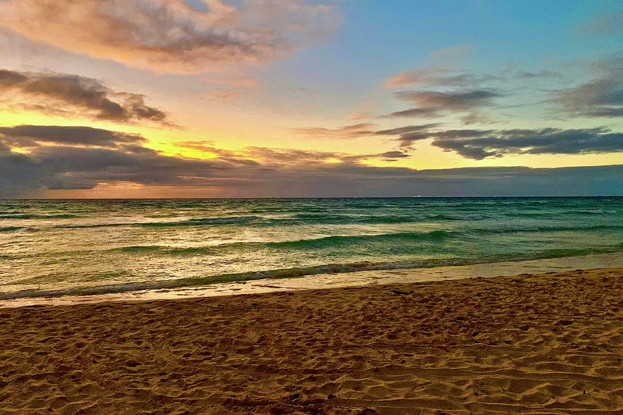 Beach Photograph - Sun Surf and Sand in Mexico by Frozen in Time Fine Art Photography
