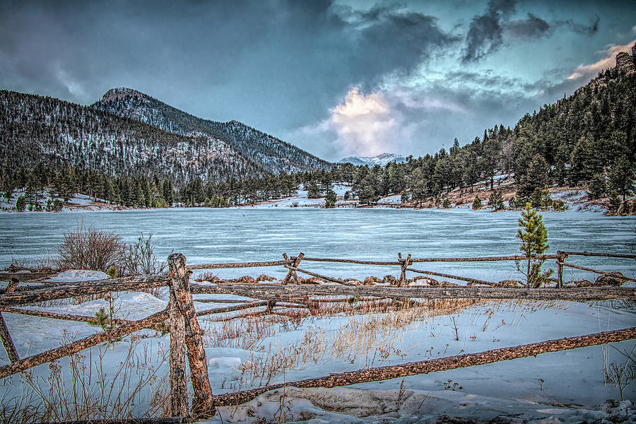 Sundown at Lily Lake, Rocky Mountain National Park by Marcy Wielfaert