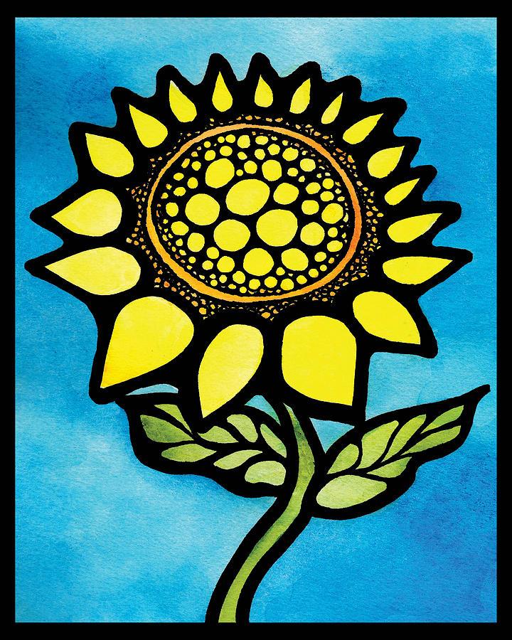 Sunflower #3 - Happy Sunflower Digital Art