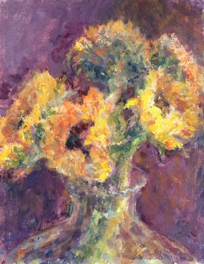 Sunflower Bouquet, original Post-impressionist painting by Quin Sweetman