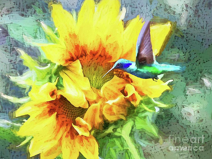 Sunflower Encounter Painting