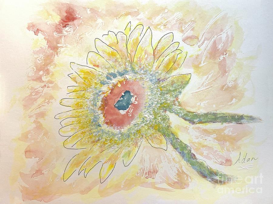 Sunflower In Dappled Light Study 1 Painting