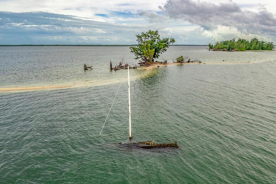 Sunken Sailboat Florida  by Michael Hughes
