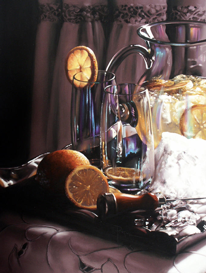 Lemons Painting - Sunkist by Dianna Ponting