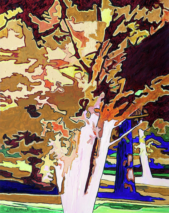 Abstraction Painting - Sunlight Patterns by John Lautermilch