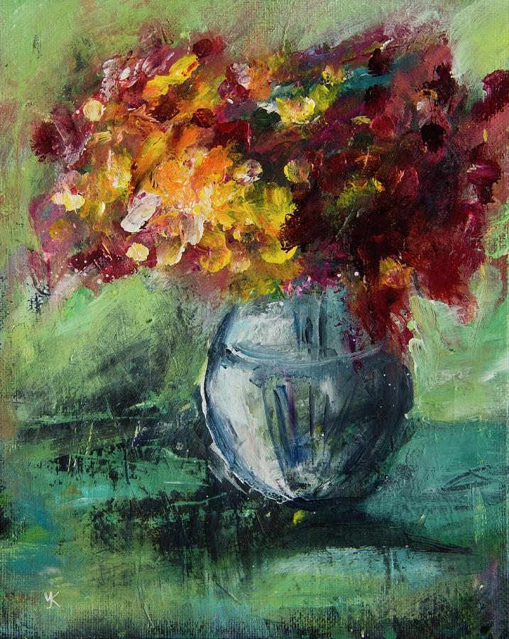 Sunlit Flowers in Vase by Yulia Kazansky