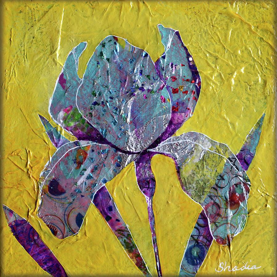 Sunlit Iris II Painting