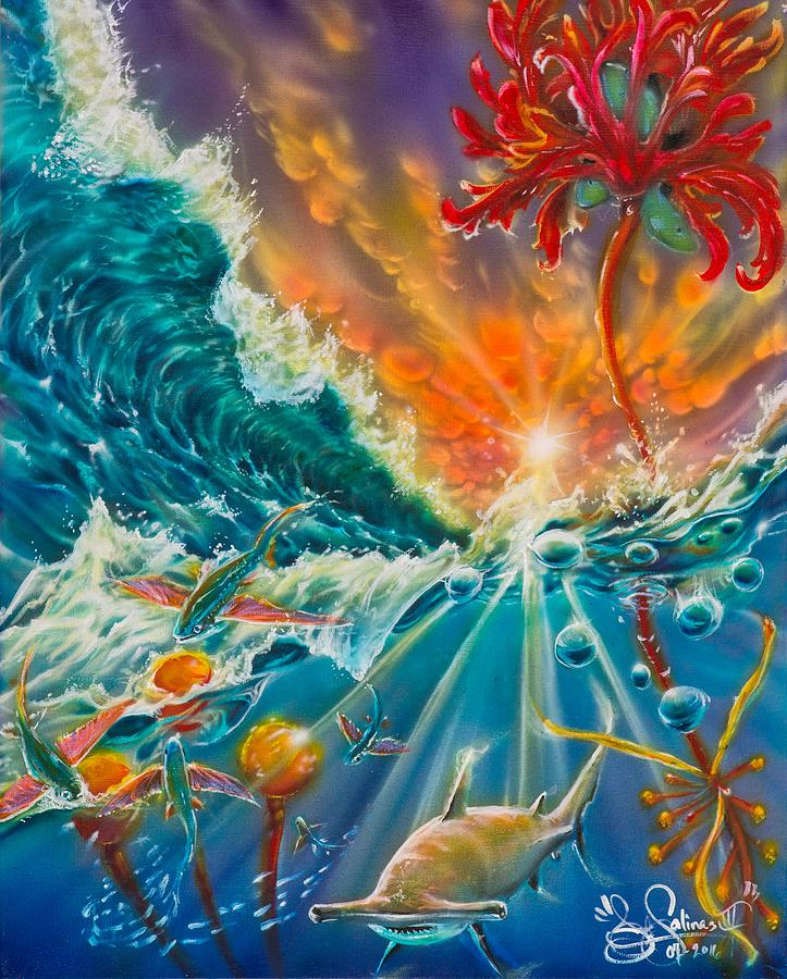 Sunlight Painting - Sunlit Nectar by Joel Salinas III