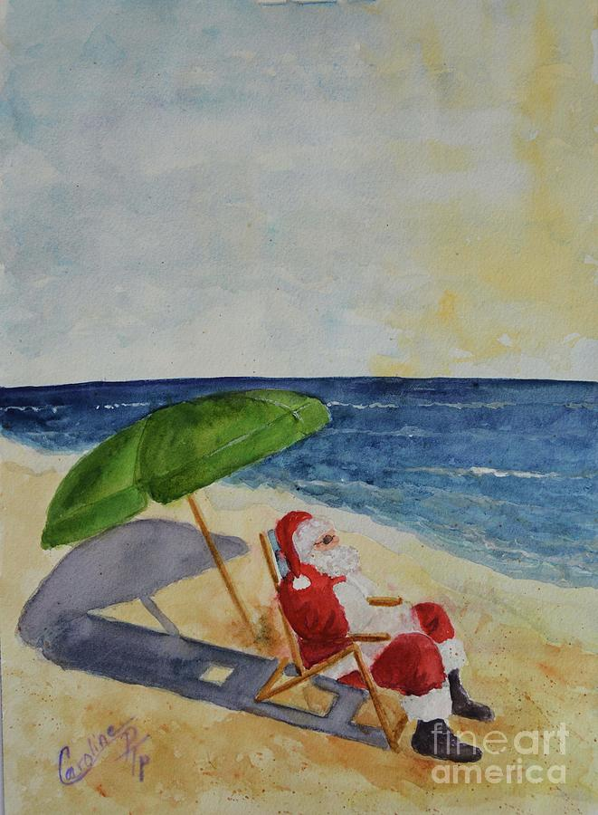 Sunning Santa Claus by Caroline Harris