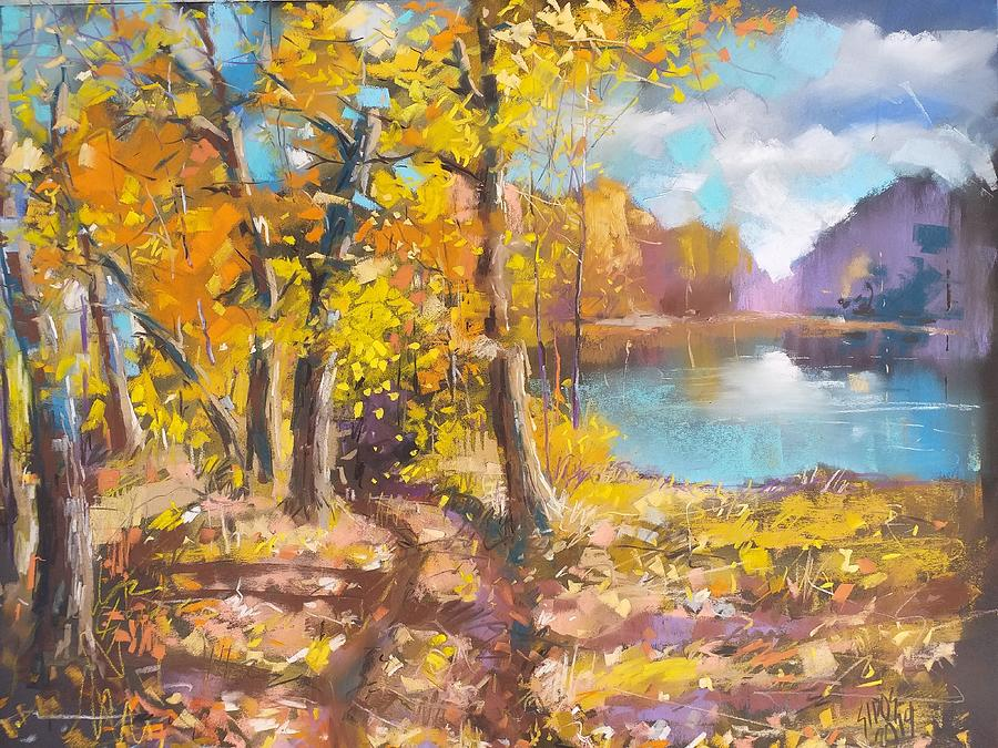 Sunny Day By The Lake Pastel