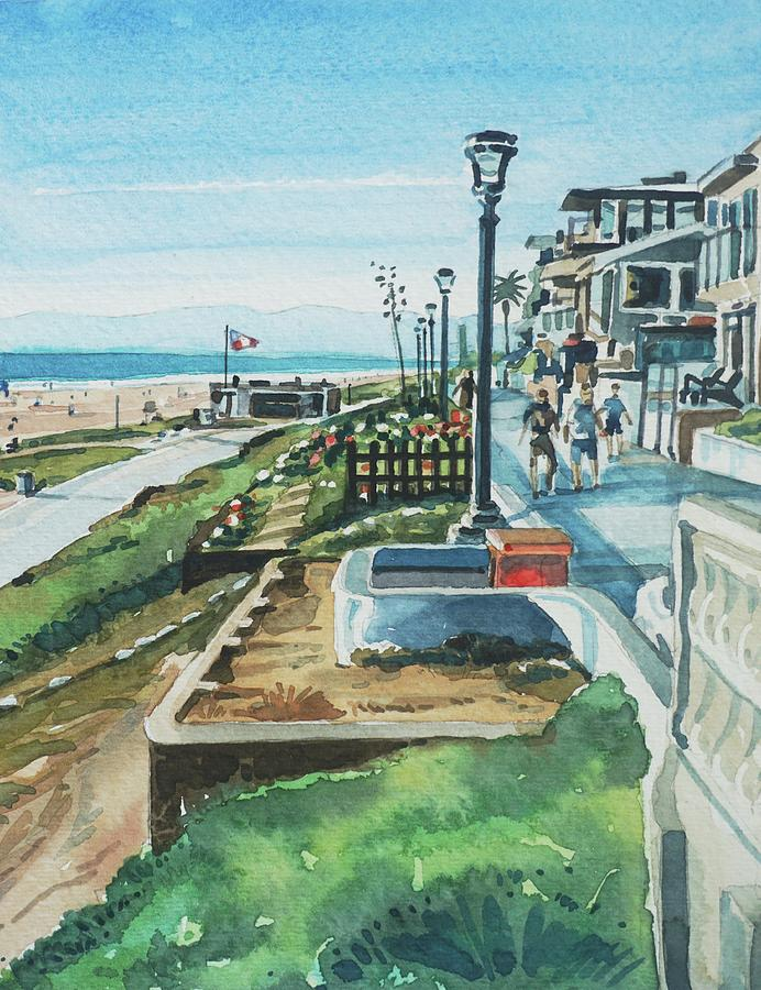 Sunny Day On The Strand Painting