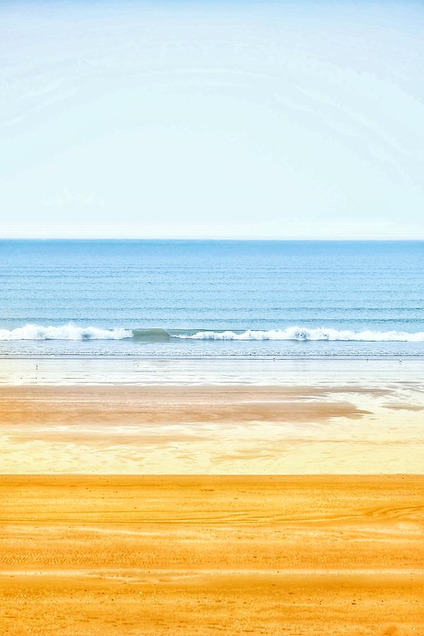 Beach Photograph - Sunny Day Sky, Sea and Sand by Anthony Harcourt