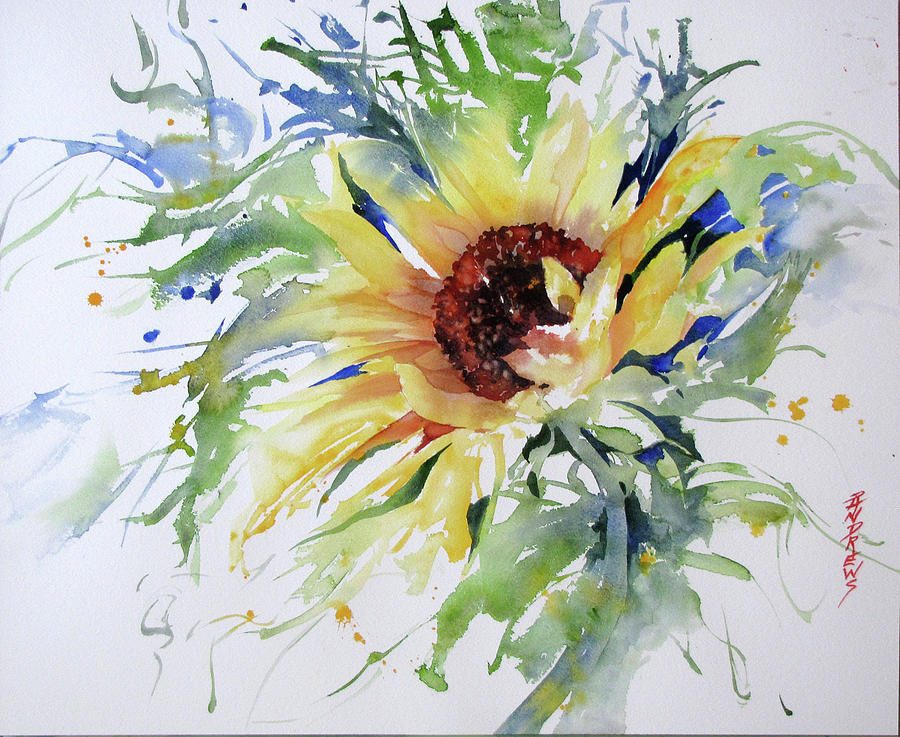 Watercolor Painting - Sunny Salutations by Rae Andrews