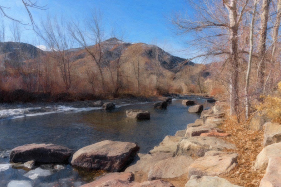 Sunny Winter Day Along Clear Creek by Barbara Rogers