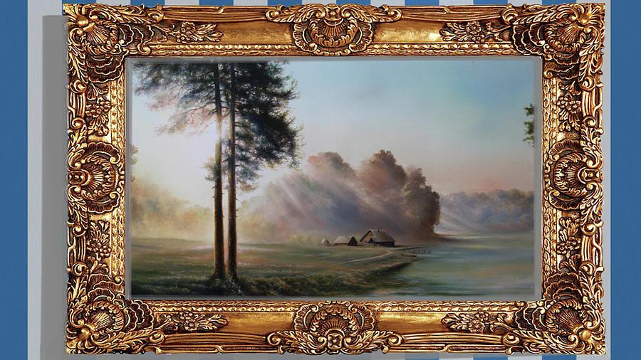 Original acrylic painting picture SUNRAY