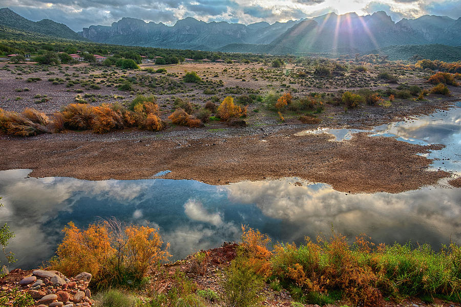 Sunrays over the Salt River Horizon by Dave Dilli