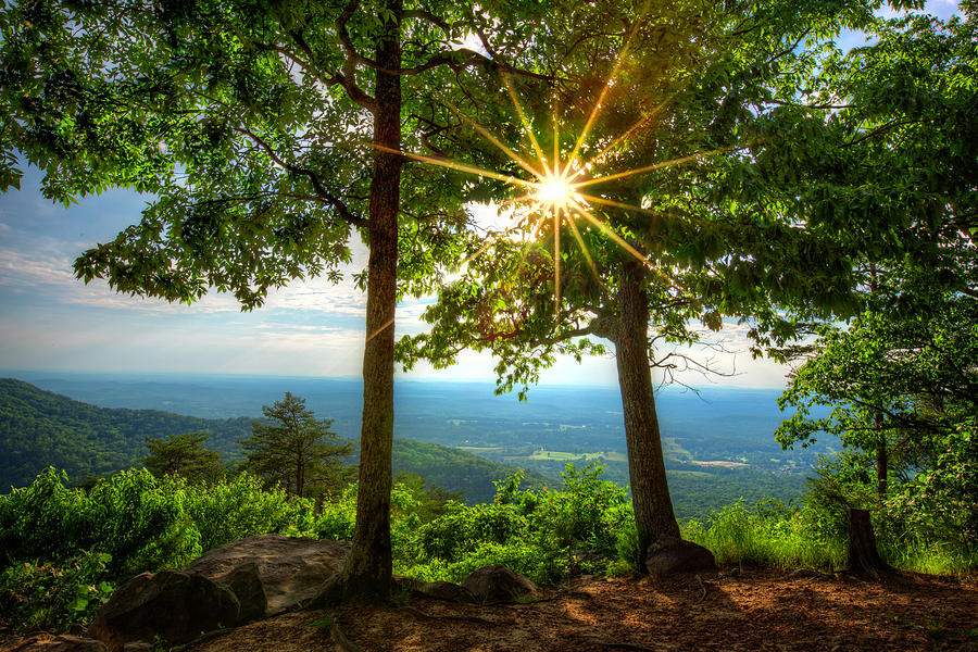 Sunrays over the Smoky Blue Ridge Mountains by Debra and Dave Vanderlaan