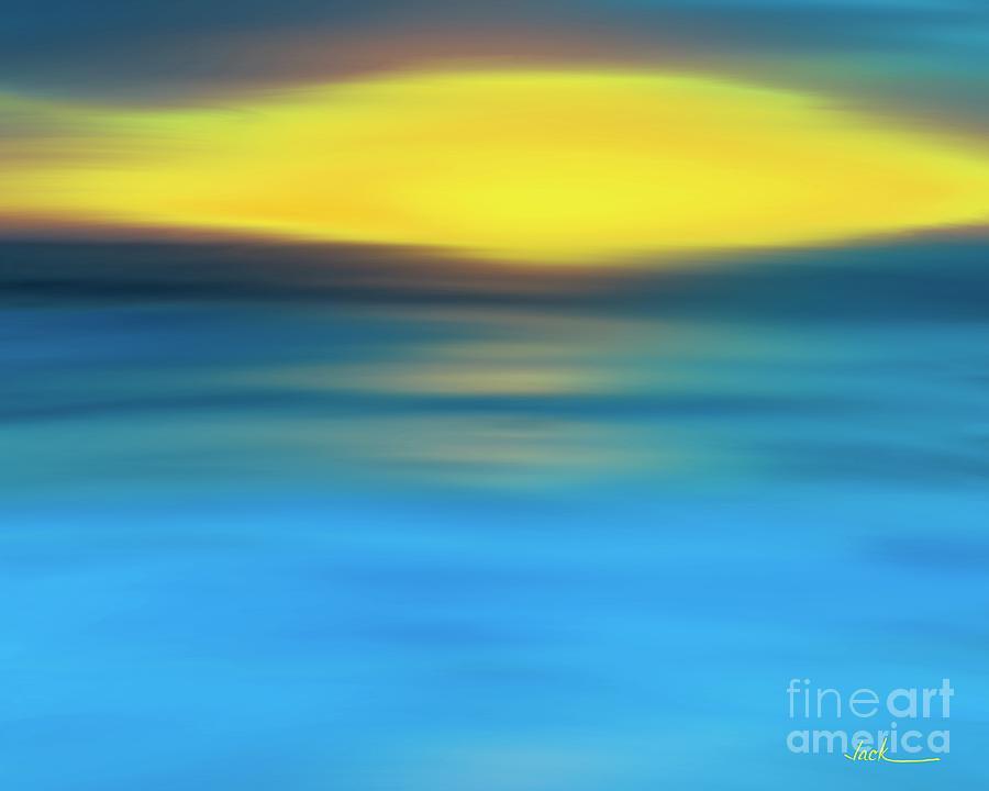 Sunrise Painting - Sunrise 10420 by Jack Bunds