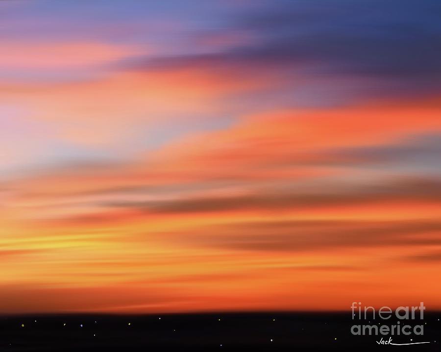 Sunrise Painting - Sunrise 72720 by Jack Bunds