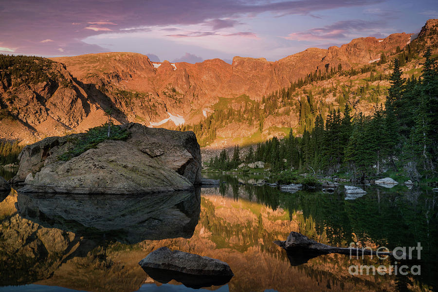 Sunrise at Forest Lake Colorado by Keith Kapple