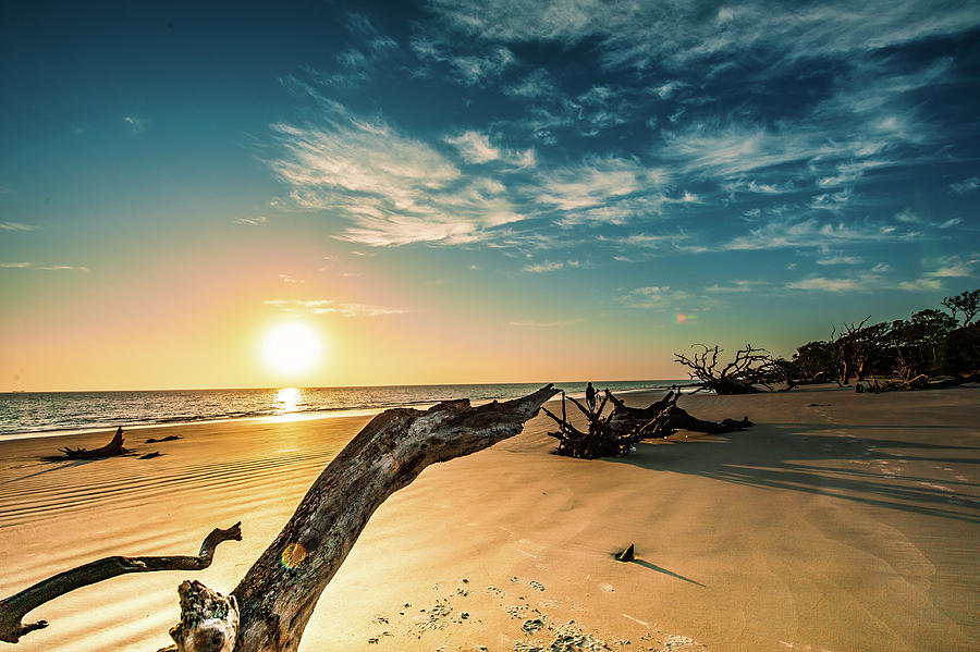 Beaches Photograph - Sunrise at Jekyll by Steven Norris