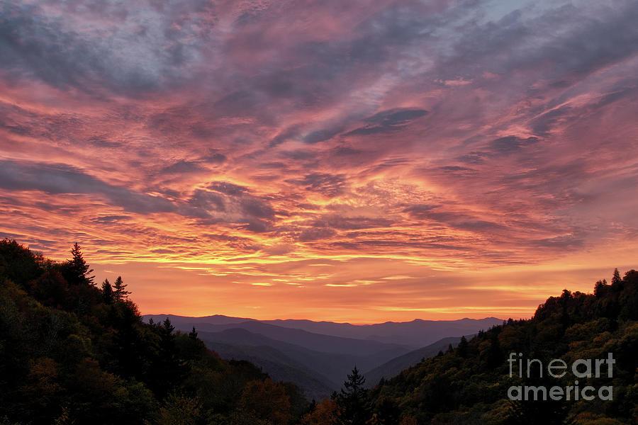 Sunrise Photograph - Sunrise At Luftee Overlook by Phil Perkins