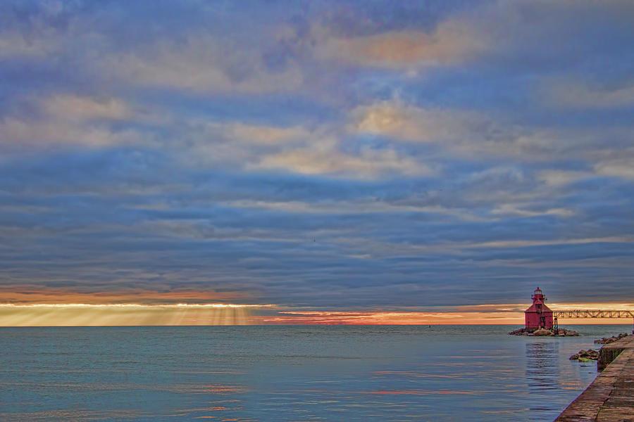 Sunrise At Sturgeon Bay Ship Canal Photograph
