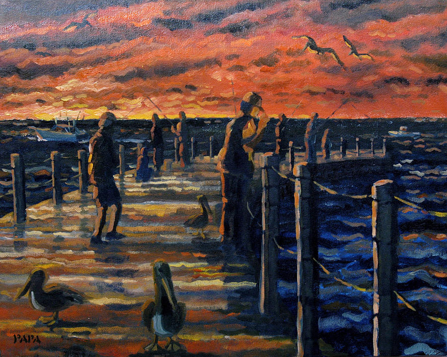 Sunrise Painting - Sunrise At The Inlet by Ralph Papa