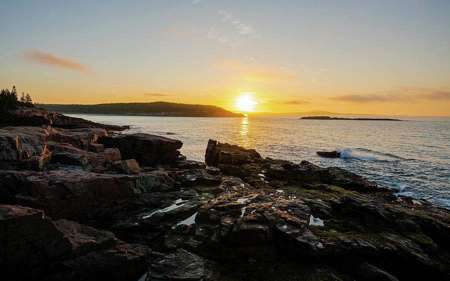 Sunrise At Thunderhole Photograph