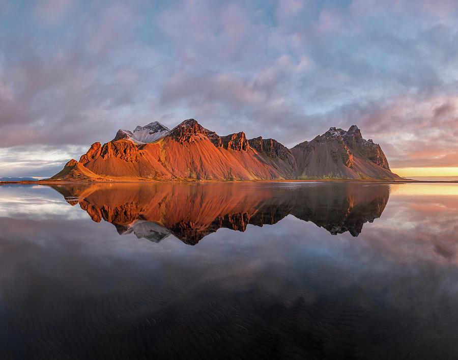Sunrise At Vestrahorn Photograph
