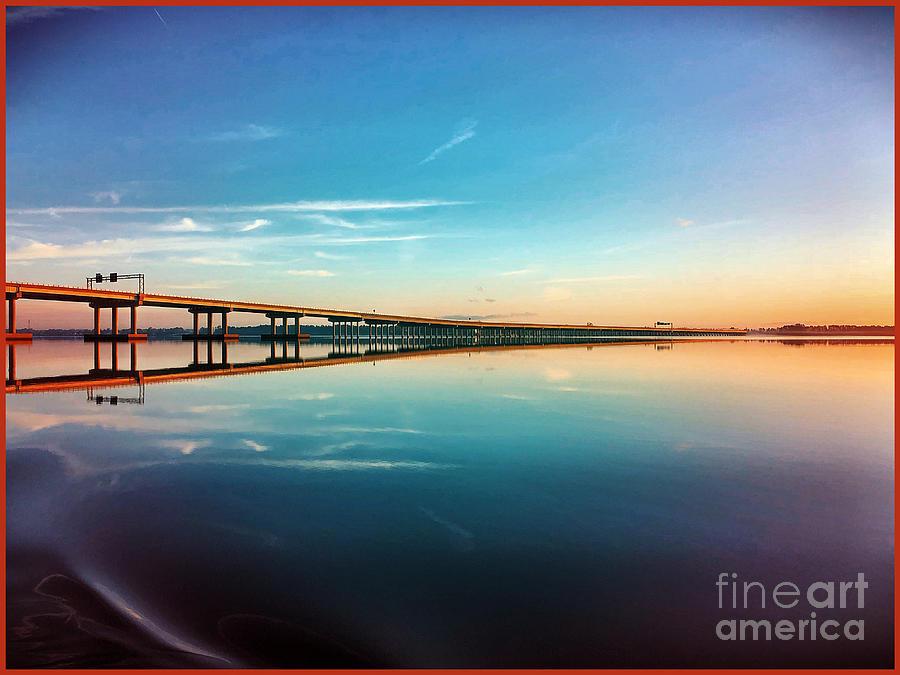 Sunrise Photograph - Sunrise Bridge by Steven Norris