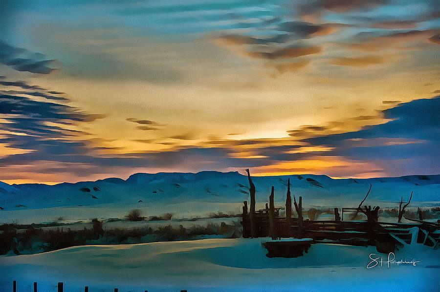 Sunrise Corral by Fine Art Western Paintings