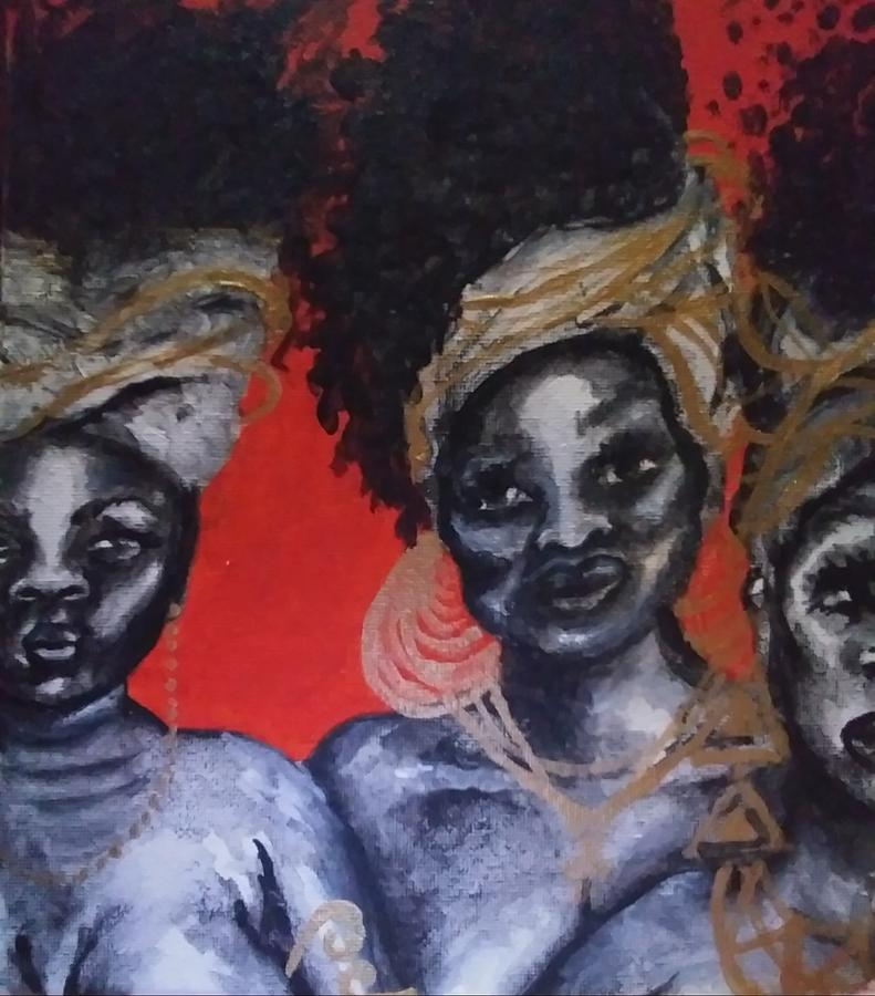 Black Woman Painting - SunRise by Crystal Guidry