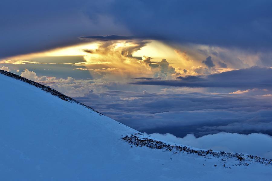 Sunrise Engulfment Mauna Kea Photograph