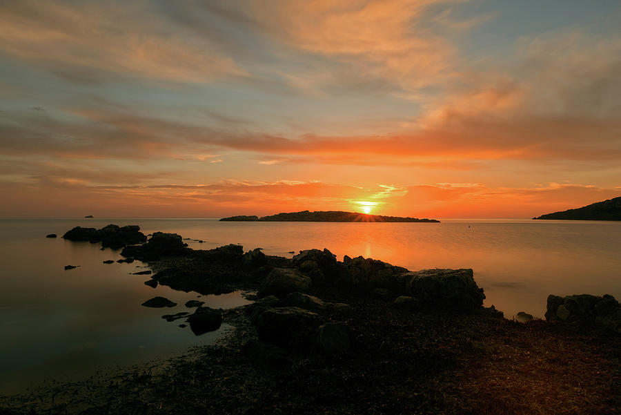 Sunrise from the Cala Sa Sal Rossa in Ibiza by Vicen Photography