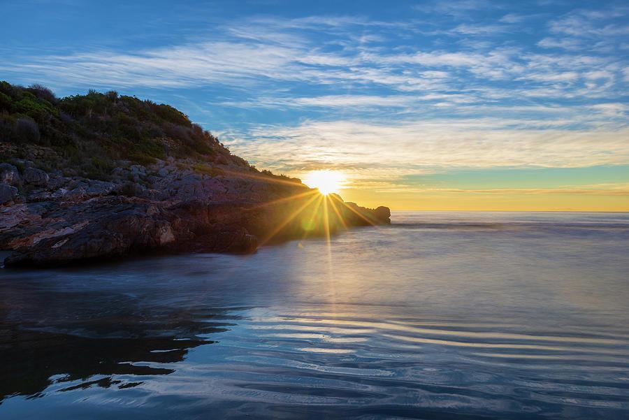 Sunrise From The Retor Cove, Oropesa, Costa Azahar Photograph